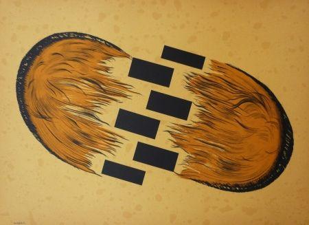 Lithograph Serrano - Dialogo del viento