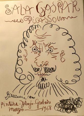 Poster Picasso -  Dibujos De Picasso - Sala Gaspar Avril 1961