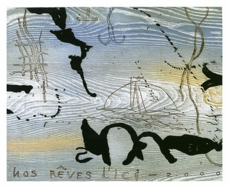 Etching And Aquatint Texier - D'ici