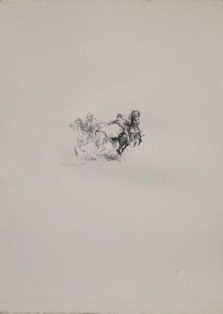 Lithograph Slevogt - Die feindlichen Brüder