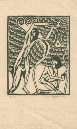 Woodcut Stoermer - Die ferne Insel / The Distant Island