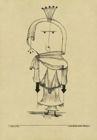 Lithograph Klee - Die Hexe mit dem Kamm / The Witch with the Comb