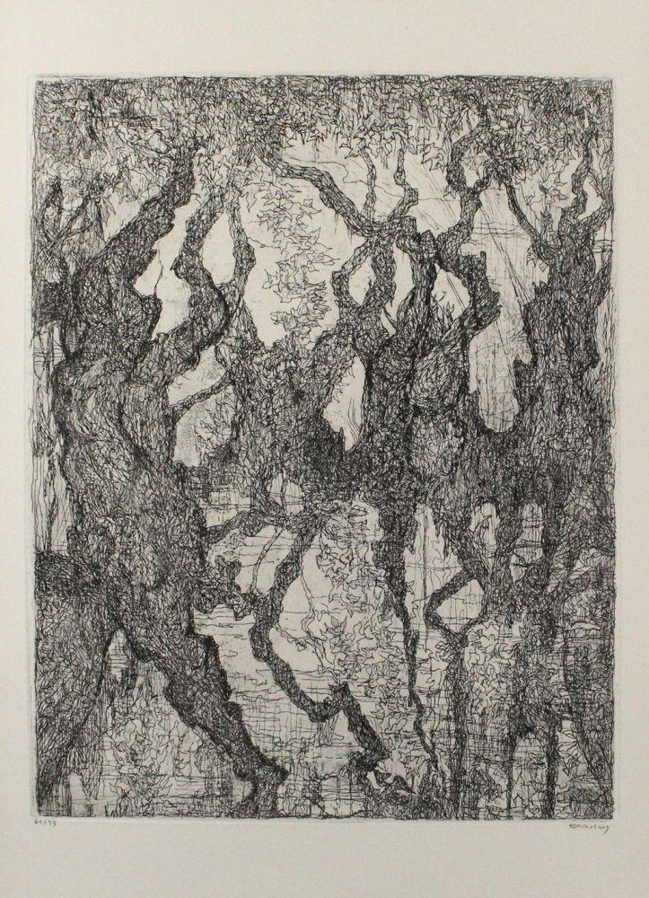 Engraving Eliasberg - Die Platanen des Pelion