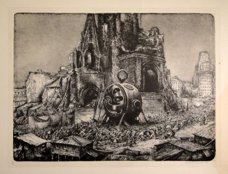 Lithograph Weber - Die Prozession