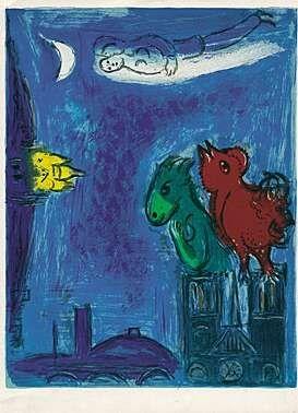 Lithograph Chagall - Die Scheusale von Notre-Dame