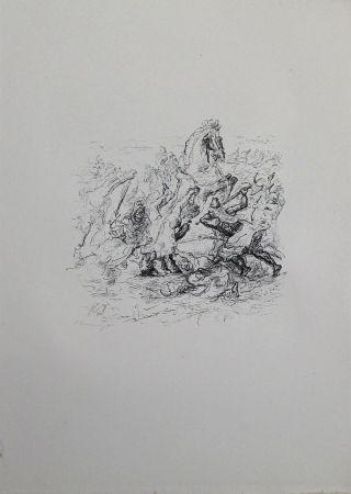 Lithograph Slevogt - Die Schlacht bei Kunaxa