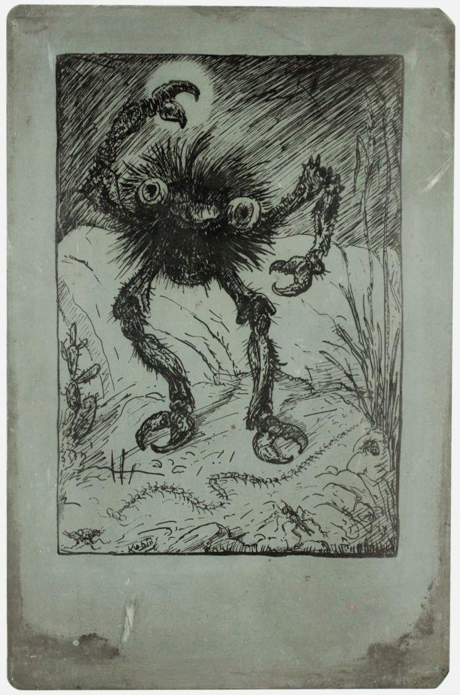Lithograph Kubin - Die sieben Todsünden (The seven deadly sins: wrath)