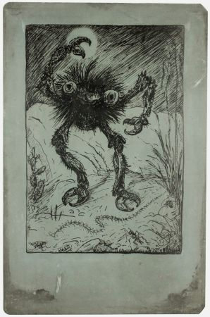 Lithograph Kubin - Die Sieben Todsünden (The Seven Deadly Sins: Wrath)