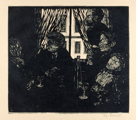 Woodcut Laage - Die Stumpfsinnigen (The Dull Ones)