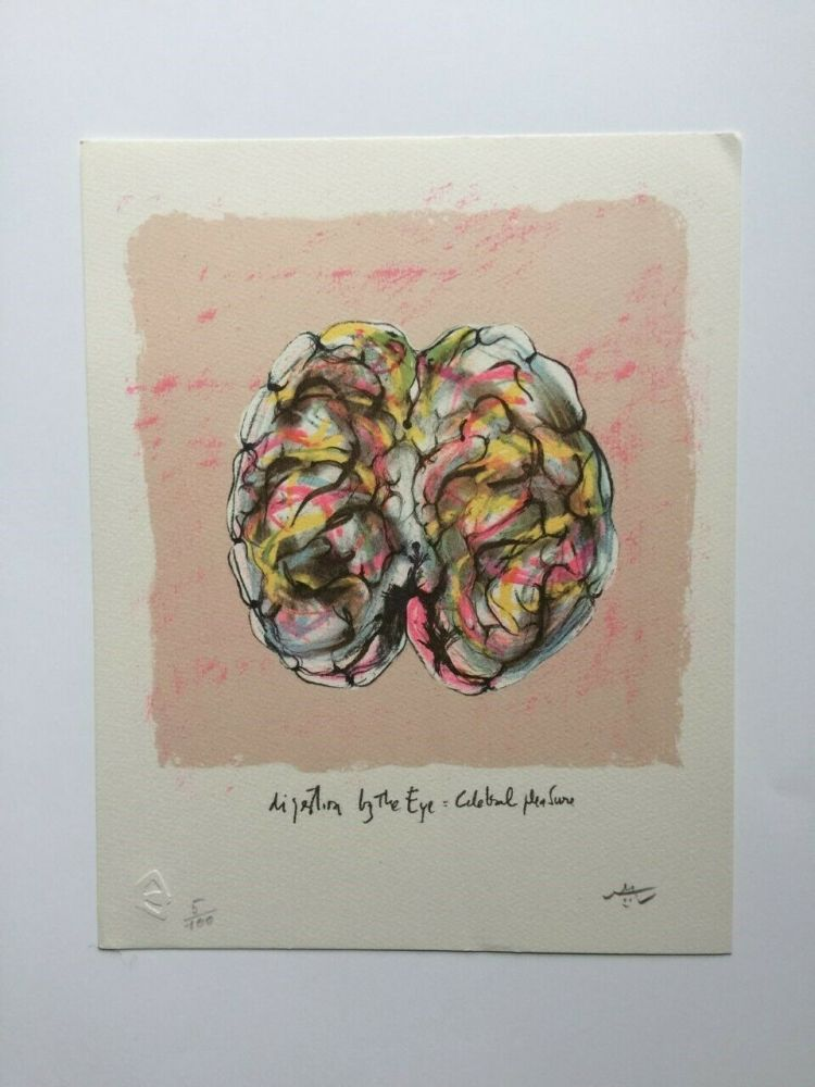 Lithograph Matta - Digestion by the eye (from Morfolgie Verbali)