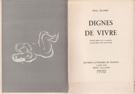 Illustrated Book Fautrier - Dignes de vivre / Paul Eluard