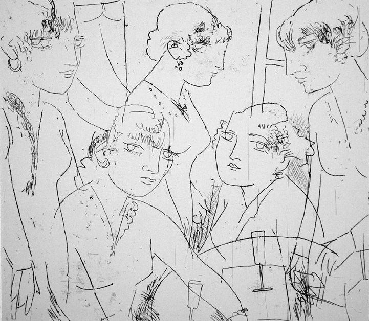 Engraving Manfredi - Diotima e le sue sorelle