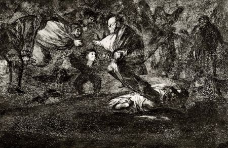 Etching And Aquatint Goya - Disparate fùnebre