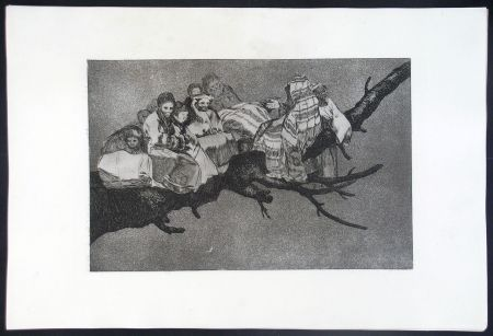 Etching And Aquatint Goya - DISPARATE RIDICULO