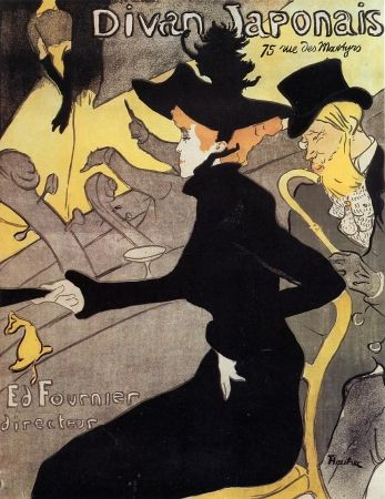 Lithograph Toulouse-Lautrec - Divan japonais