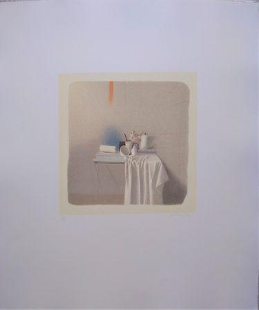 Lithograph Ferroni - Diversi oggetti e panneggio