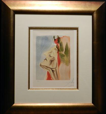 Woodcut Dali - Divine Comedy Heaven Canto 7