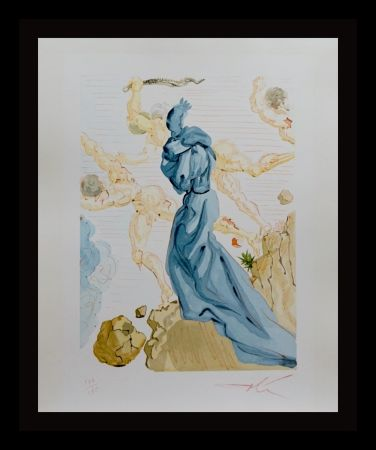 Woodcut Dali - Divine Comedy Hell Canto 19