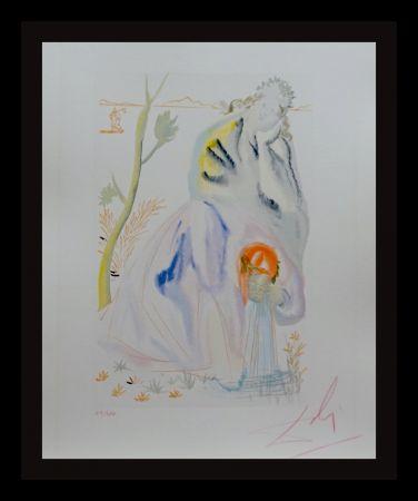 Woodcut Dali - Divine Comedy Purgatory Canto 22