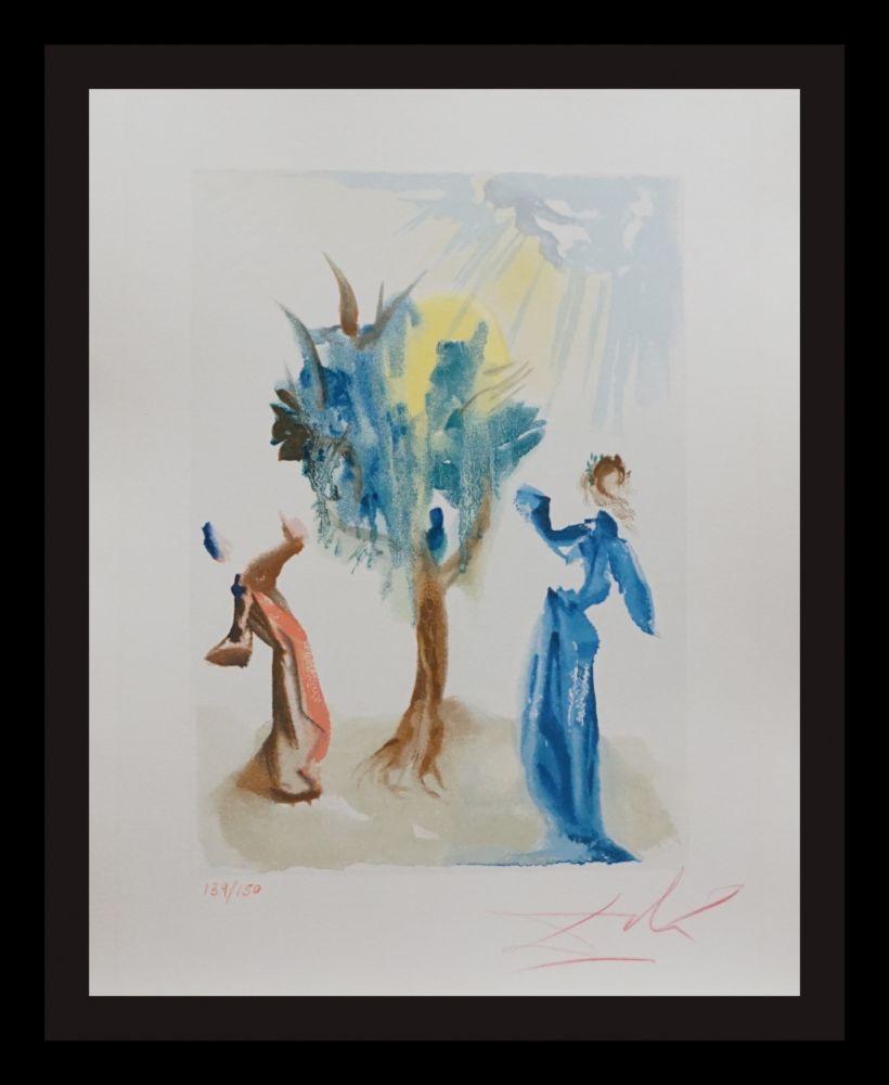 Woodcut Dali - Divine Comedy Purgatory Canto 24