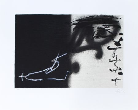 Lithograph Tapies - Divise