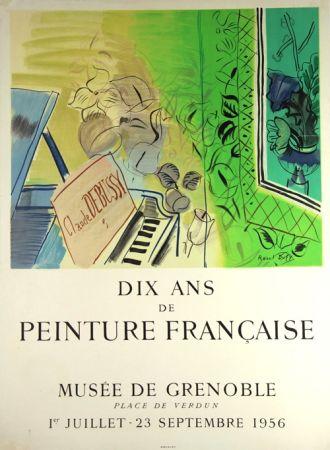 Lithograph Dufy - Dix Ans de Peinture Française  Musée de Granoble