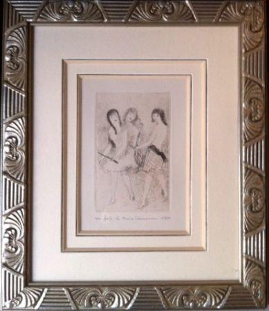 Engraving Laurencin - Dix filles dans un pré