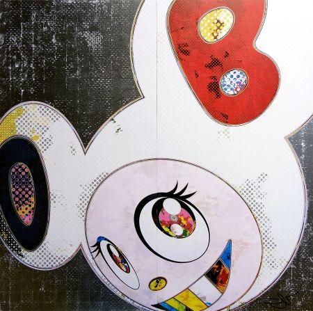 Lithograph Murakami - DOB in pure white robe (navy & vermilion)