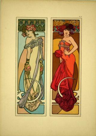 Lithograph Mucha - Document décoratif  Planche n° 45