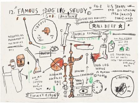 Screenprint Basquiat - Dog Leg Study