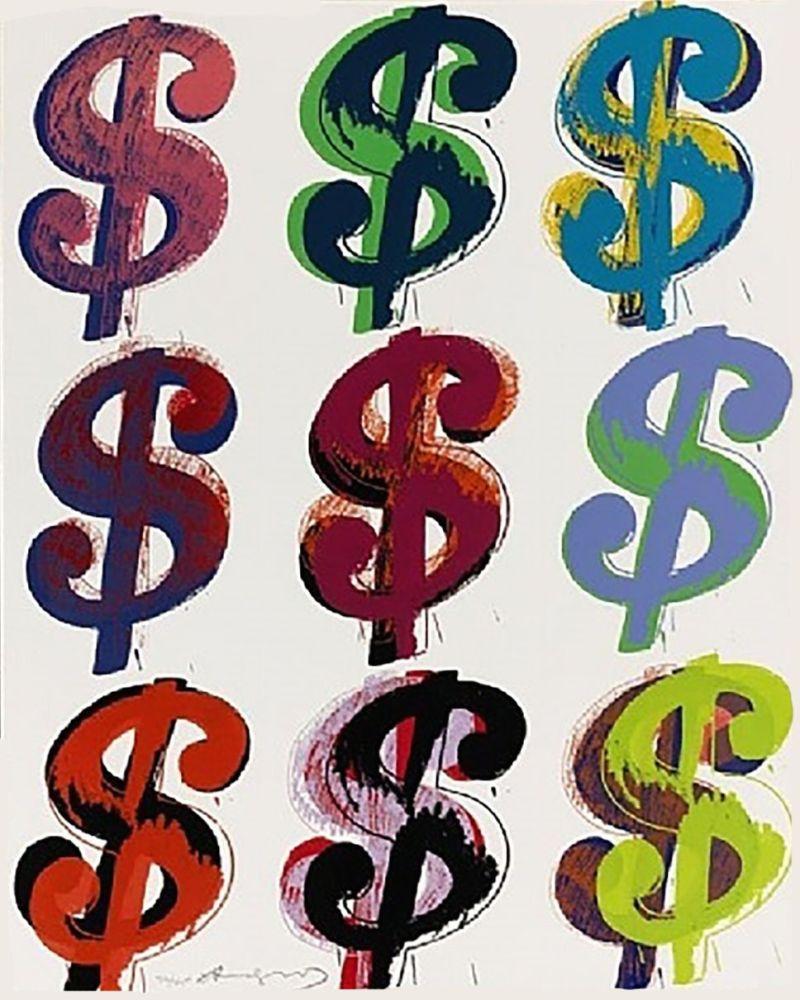 Screenprint Warhol - Dollar Sign (9) FS II.286