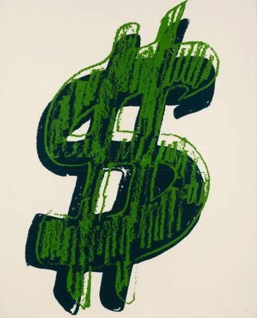 Screenprint Warhol - Dollar Sign, Green (FS II.278)