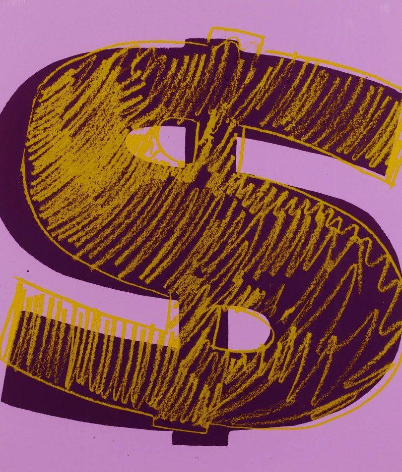 Screenprint Warhol - Dollar Sign, Orange (FS II.276)