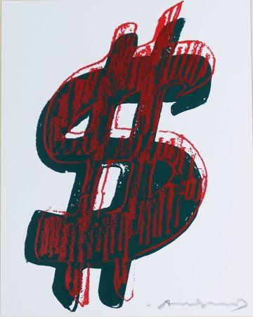 Screenprint Warhol - Dollar Sign, Red (FS II.278)