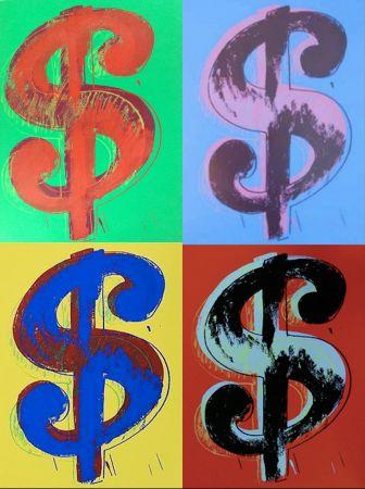 Screenprint Warhol (After) - Dollar Sign Set of 4