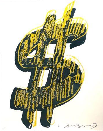 Screenprint Warhol - Dollar Sign, Yellow  (FS II.278)