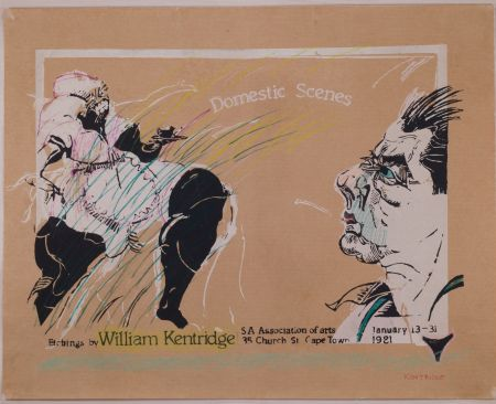 Screenprint Kentridge - Domestic Scenes