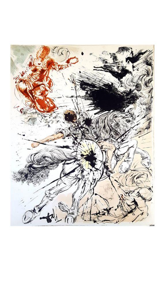 Lithograph Dali - Don Quichotte
