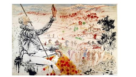 Lithograph Dali - Don Quichotte