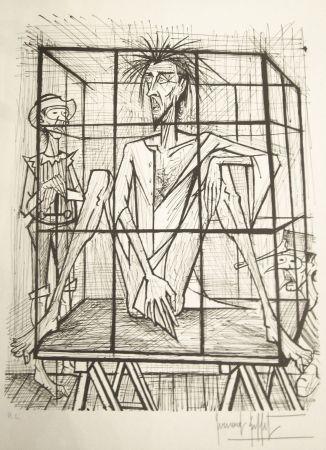 Lithograph Buffet - Don Quichotte en cage