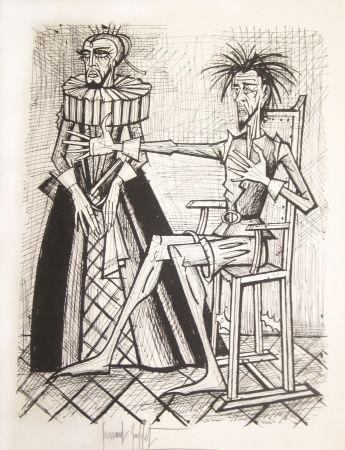 Lithograph Buffet - Don Quichotte et la duègne barbue