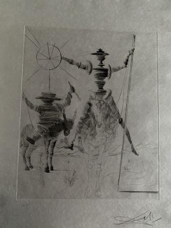 Drypoint Dali - Don Quichotte und Sancho Panca