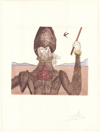 Etching Dali - Don Quijote
