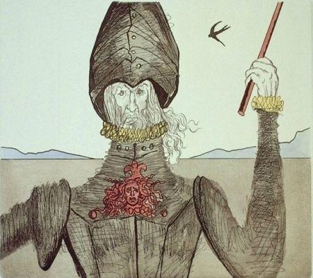 Etching And Aquatint Dali - Don Quijote