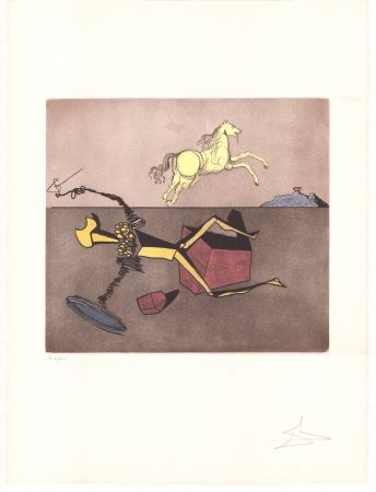 Etching Dali - Don Quijote - Aspiration