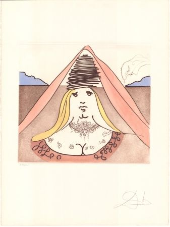 Etching Dali - Don Quijote - Dulcinea
