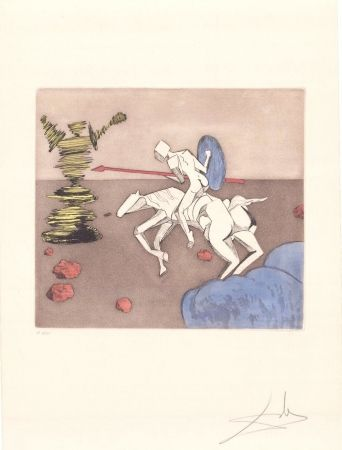 Etching Dali - Don Quijote - la quête