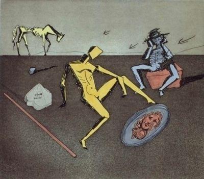 Etching Dali - Don Quijote - le chevalier aux miroirs
