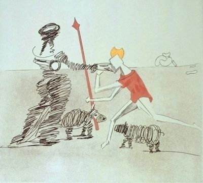 Etching Dali - Don Quijote - Pastorale