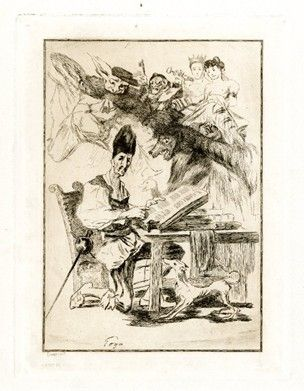 Etching Bracquemond - Don Quixote
